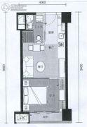 G1蜂汇1室1厅1卫40平方米户型图