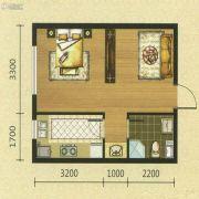 新湖青蓝国际1室1厅1卫44平方米户型图