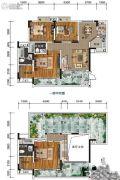 南方格林雅墅4室2厅3卫130平方米户型图