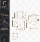 阳光城・尚东湾2室2厅2卫127平方米户型图