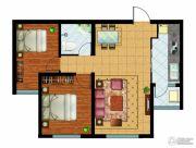万国园奥洲领域2室2厅1卫93平方米户型图