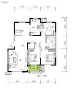 民生城・逸兰汐3室2厅1卫107平方米户型图