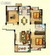 海亮尊园3室2厅1卫110平方米户型图