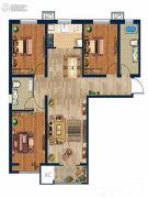 金域蓝湾3室2厅2卫118--120平方米户型图
