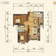 香江健康小镇2室1厅1卫0平方米户型图