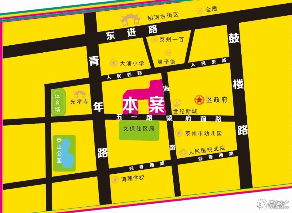 乐活中心城 交通图