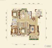 保利清能西海岸4室2厅2卫125--126平方米户型图