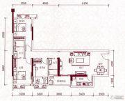 嘉兰轩3室2厅2卫125平方米户型图