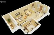 中航城花园3室2厅2卫97平方米户型图