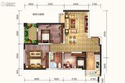 达达公馆3室2厅1卫90平方米户型图