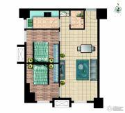 国瑞瑞城2室2厅1卫84平方米户型图