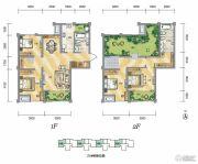 泾渭分明生态半岛4室2厅2卫148平方米户型图