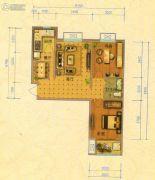 北斗星城・御府Ⅱ期2室2厅1卫81平方米户型图