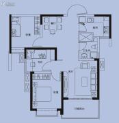 国奥天地3室2厅1卫91平方米户型图