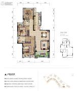 华宇观澜华府3室2厅2卫0平方米户型图