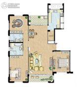 太湖锦园3室2厅2卫162平方米户型图