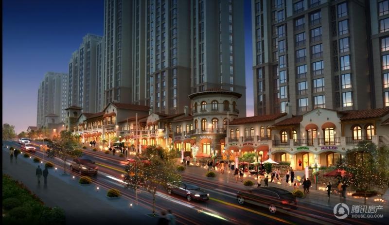 中建城 商业沿街夜景人视效果图