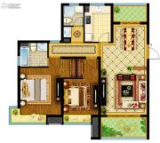 南通万达广场2室2厅2卫108平方米户型图