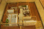 富力城英伦庄园1室2厅1卫77平方米户型图