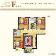 枫林水岸3室2厅1卫108平方米户型图