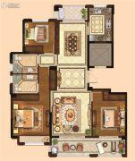 金麟府3室2厅2卫128平方米户型图