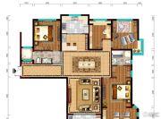 阳光城市・晶海园4室2厅2卫168平方米户型图