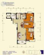 旺佳・华府3室2厅2卫142平方米户型图