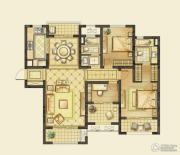 华润橡树湾3室2厅2卫130平方米户型图