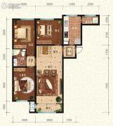 宏泰铂郡3室2厅1卫0平方米户型图
