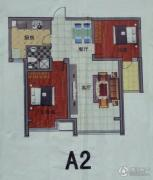 万豪华创新城2室2厅1卫101平方米户型图