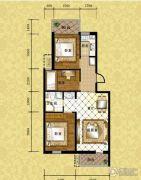 格林小镇3室1厅1卫79平方米户型图