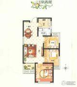 诚城常青藤3室2厅1卫89平方米户型图