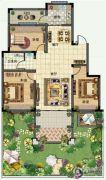 青建香根四季3室2厅1卫120--138平方米户型图