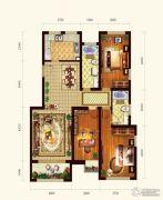 依云墅3室2厅2卫123平方米户型图