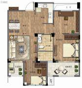 三盛国际公园・香樟里3室2厅1卫76--91平方米户型图