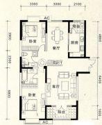 滨海名都2室2厅2卫117平方米户型图