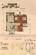 勤诚达22世纪2室2厅2卫87--89平方米户型图