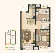 东亚御景湾2室2厅1卫77平方米户型图