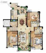 保利香槟国际3室2厅2卫143平方米户型图