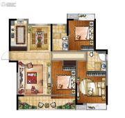 富力金禧悦城3室2厅2卫122--125平方米户型图