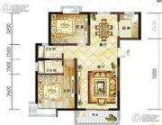 龙泽花园2室2厅1卫96平方米户型图