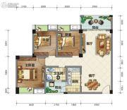 荣华山庄二期温情港湾3室2厅1卫102平方米户型图