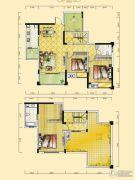 远达天际上城4室2厅2卫152平方米户型图