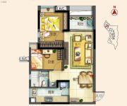 北部万科城2室2厅1卫70平方米户型图