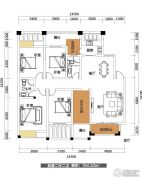 雅士林欣城江岳府4室2厅2卫154平方米户型图