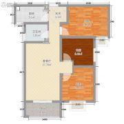 宏运海河湾2室1厅1卫73平方米户型图