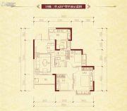 恒大名都3室2厅1卫87平方米户型图