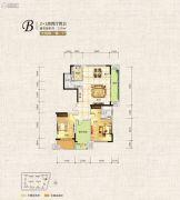 中天栖溪里2室2厅2卫129平方米户型图