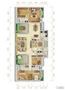 万科金润华府3室2厅2卫236平方米户型图