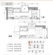 涛汇广场2室2厅2卫29平方米户型图